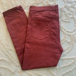 Ann Taylor Rustic Red Skinny Jeans
